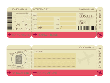 Boarding Pass Design Template Royalty Free Cliparts, Vectors, And ...