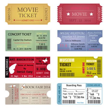 template: Ticket Template Designs Illustration