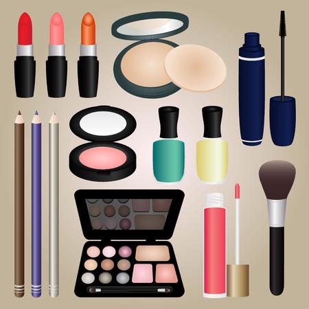 make up brush: Conjunto de Cosm�ticos y Maquillaje Pincel