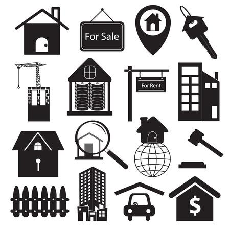 home owner: Real Estate Symbols Set