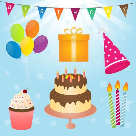 birthday party: Birthday Party Vector Element Illustration