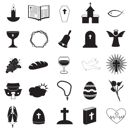 christian fish: Cristiano Icons Collection Vectores