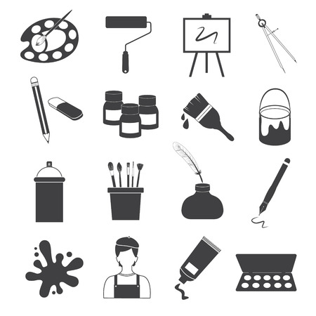 sketchpad: Art Icons Vector Set