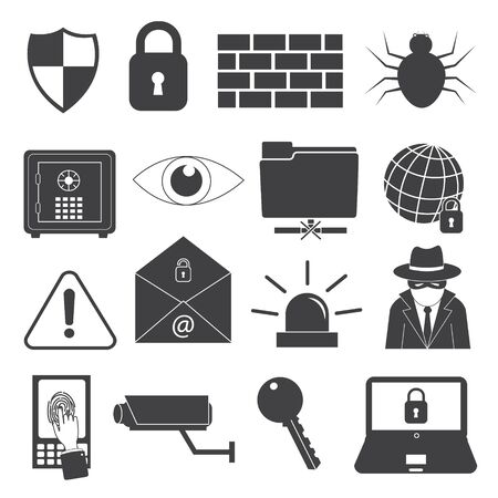 spyware: Security Icons Set