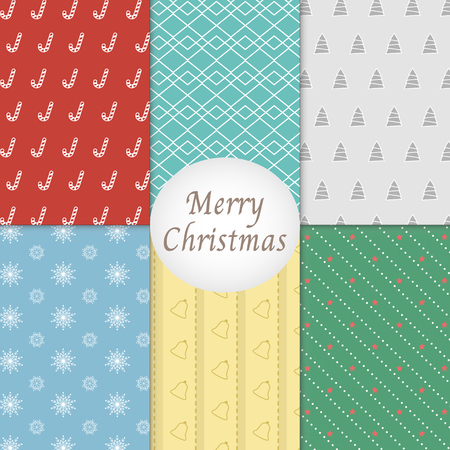 Merry Christmas Pattern Background