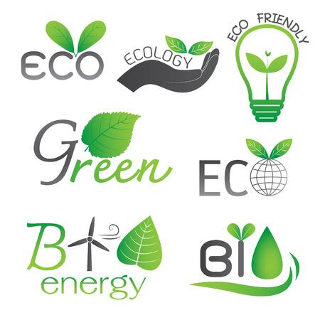 bio energy: Ecology and Bio Energy Icons