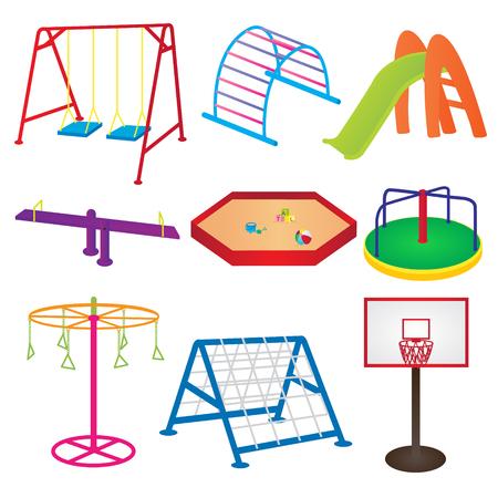 Equipment in Children Playground