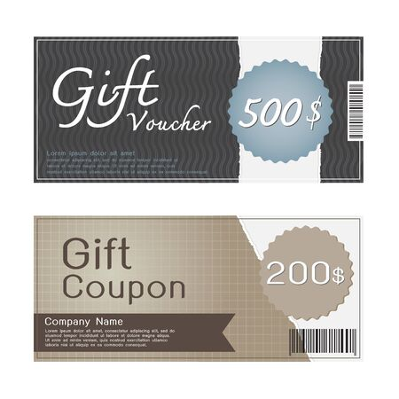 gift voucher and coupon templates design royalty free cliparts