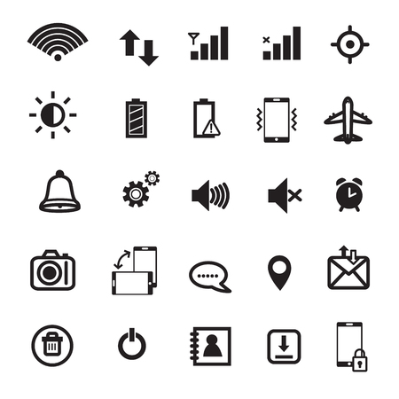 Mobile Phone Notification Icons