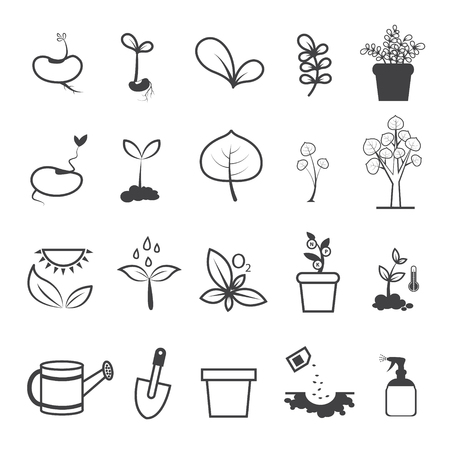 Planting and Plating Tool Icons Illustration