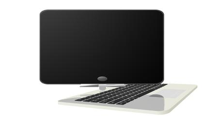 ultrabook: Hybrid notebook Stock Photo