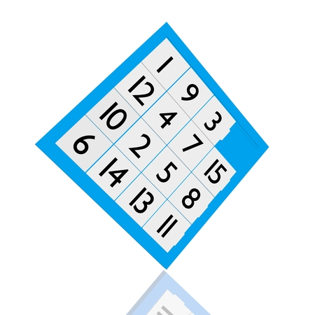 fifteen: fifteen puzzle game Stock Photo