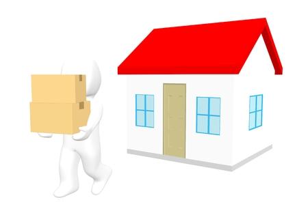 3D-Auszug Standard-Bild