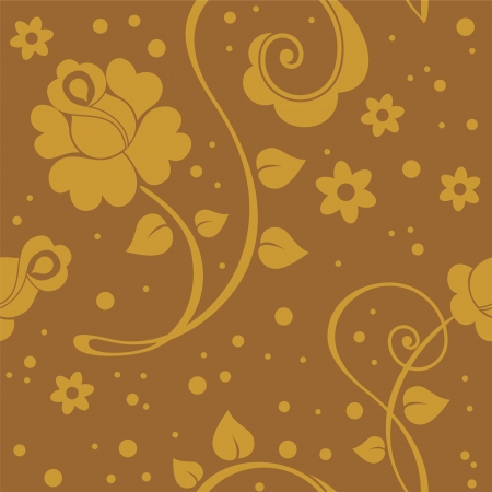 Seamless floral texture with stylized roses for your design Stock Vector - 15289748