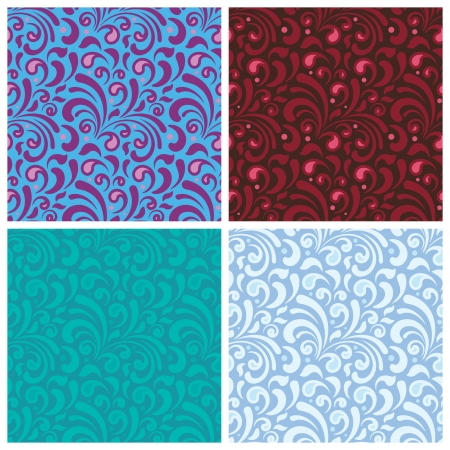 Abstract seamless texture with curl elements for background Stock Vector - 15700508