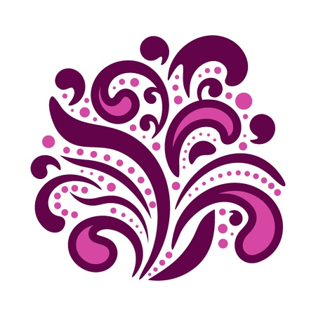 Abstract floral element of ornament for design Illustration