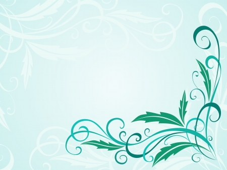 Abstract light floral background Illustration