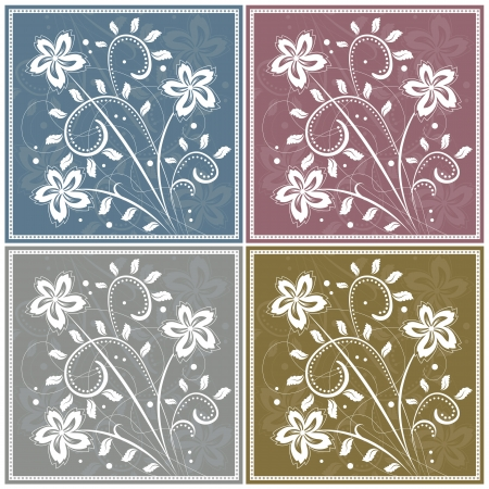 Abstract floral background with stylized flowers Illustration