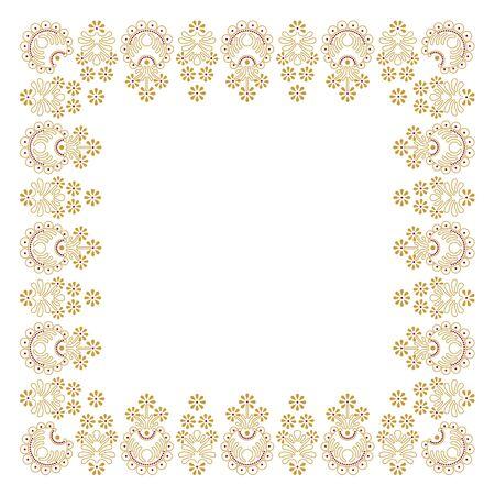 Onamental  frame in editable vector file  Eps10 Illustration