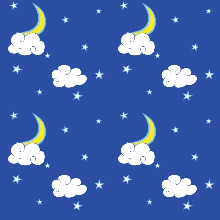 Texture with night sky  Vector illustration  Eps8