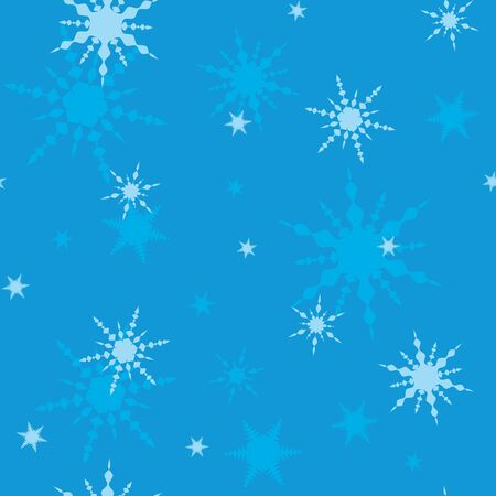Decorative winter Christmas seamless texture with art snowflakes Vector