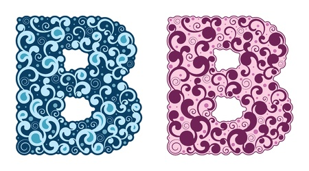 Curling alphabet. Letter B. Stock Vector - 17736212