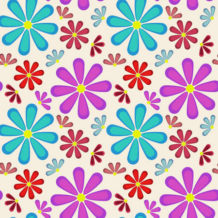 Abstract seamless texture with flowers for background Stock Vector - 18223614