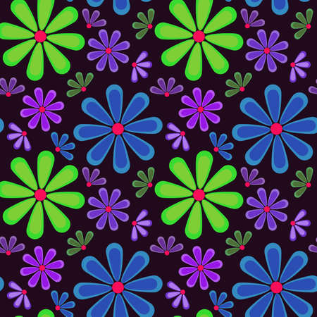 Abstract seamless texture with flowers for background Stock Vector - 18223612
