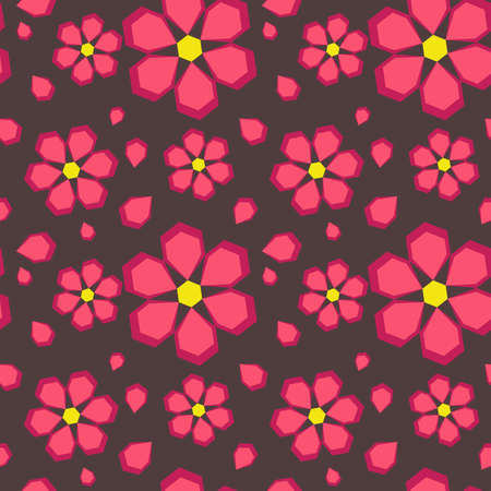 Abstract seamless texture with geometric flowers for background Stock Vector - 18223611