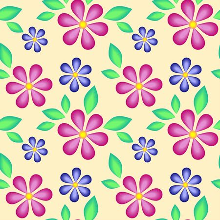 Abstract seamless texture with flowers for background Stock Vector - 18308073
