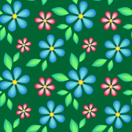 Abstract seamless texture with flowers for background Stock Vector - 18308070