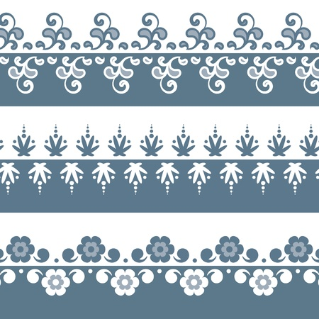 Border Set. Perfect for invitations or announcements. Vector