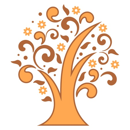 Stylized tree for your design. Vector illustration. Eps 8 Vector