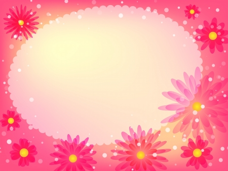 Beautiful colorful flower background. Vector illustration.  Vector