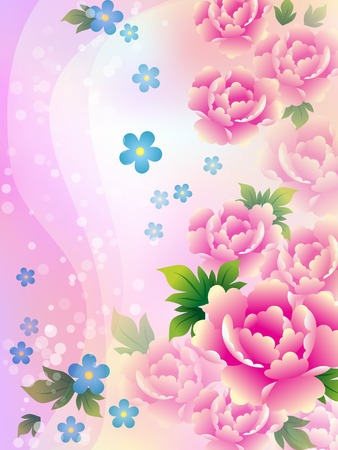Beautiful background with roses. Vector illustration.