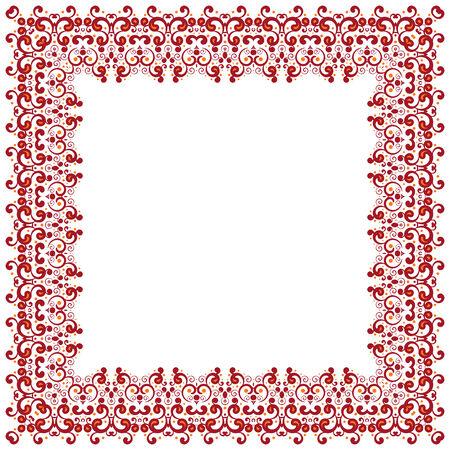 Abstract simmetric square frame. Vector illustration. Design element