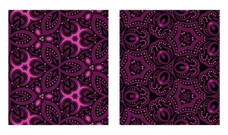 Set of abstract seamless textures. Vector illustration. Design element