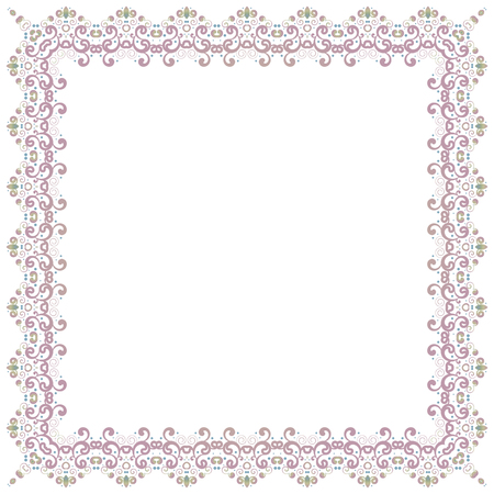 Abstract simmetric square frame. Vector illustration. Design element