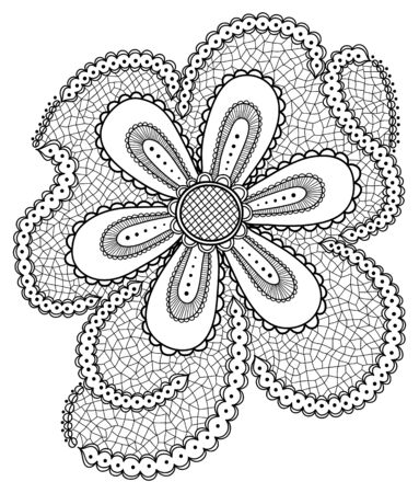 Hand-drawn abstract flowers.