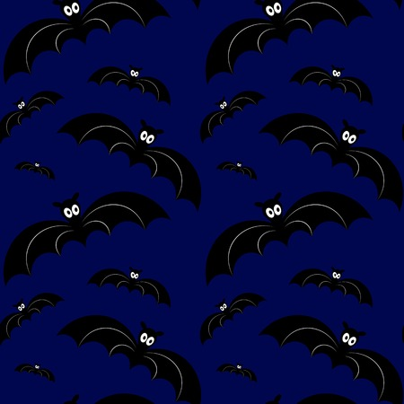 Halloween seamless pattern. Vector illustration. Design element Ilustração