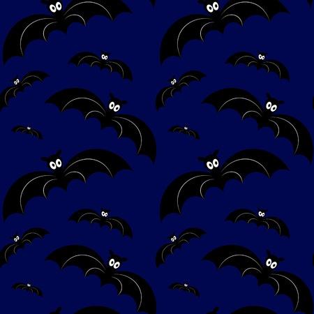 Halloween seamless pattern. Vector illustration. Design element Illustration