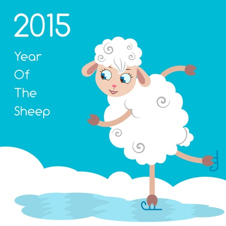 2015 Year Of The Sheep. Vector Illustration. Vector