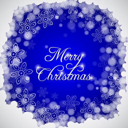 Merry Christmas lettering Greeting  Card. Vector illustration Illustration