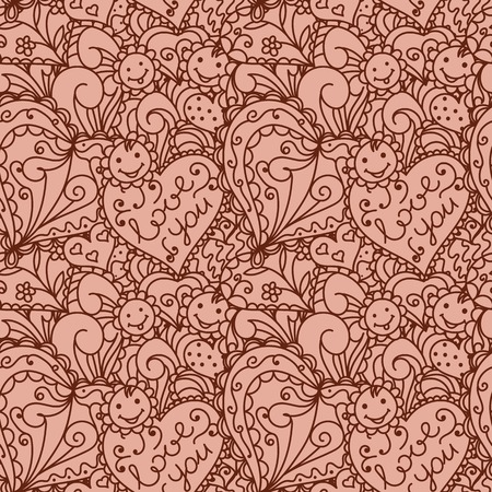 Seamless pattern with hearts. Vector illustration. Use for wallpaper,pattern fills, web page background Illustration