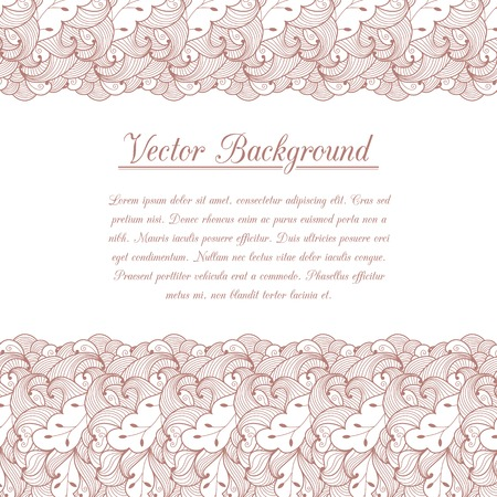 Vintage invitation decoration with lace ornament.  Illustration