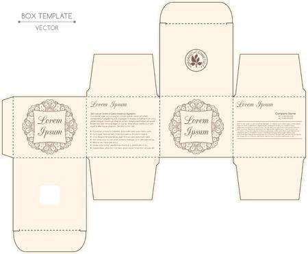 Box-Design, Praegung. Standard-Bild - 37696195