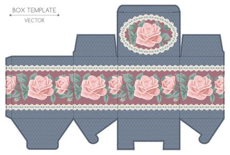 Box-Design-Vorlage Standard-Bild - 37925436