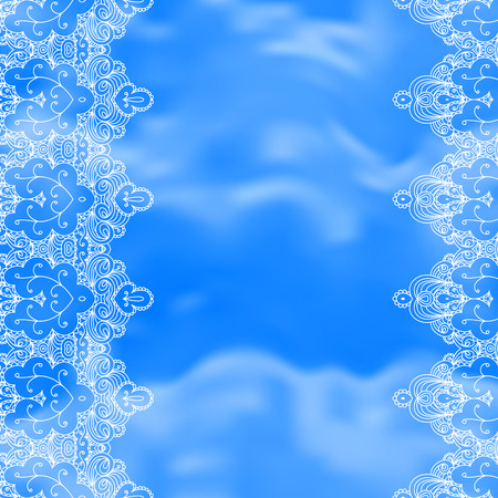 Background with lace ornament and space for your text. Template frame design for card, invitation