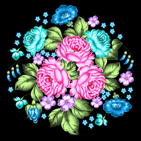 Russian floral ornament.  Illustration