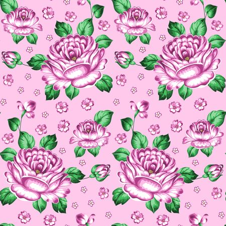 Seamless floral pattern. Zhostovo painting. Hand drawn vector illustration Vector